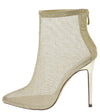 Carla Gold Mesh Pointed Toe Stiletto Ankle Boot - Wholesale Fashion Shoes