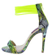 Carmela111 Yellow Multi Women's Heel - Wholesale Fashion Shoes