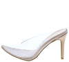 Carnation42 Nude Lucite Pointed Toe Mule Slide Heel - Wholesale Fashion Shoes