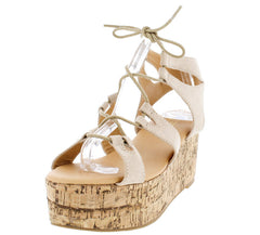 CARRIN10 BEIGE WOMEN'S WEDGE - Wholesale Fashion Shoes