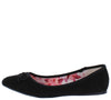 Carson18 Black Tied Bow Pointed Toe Ballet Flat - Wholesale Fashion Shoes
