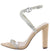 Ruby191 Nude Rhinestone Open Toe Cross Strap Heel