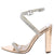 Ruby191 Rose Gold Rhinestone Open Toe Cross Strap Heel