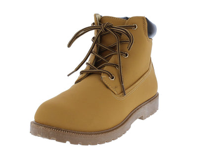 Cassie1 Wheat Lug Sole Lace Up Ankle Boot - Wholesale Fashion Shoes