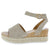 Celeney1 Taupe Open Toe Cut Out Ankle Strap Espadrille Sandal