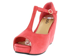 CELINE01 CORAL WOMEN'S WEDGE - Wholesale Fashion Shoes