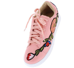 LUNA175 PINK PU WOMAN'S FLAT - Wholesale Fashion Shoes