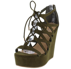 CHARADE18M OLIVE SUEDE WOMEN'S HEEL - Wholesale Fashion Shoes