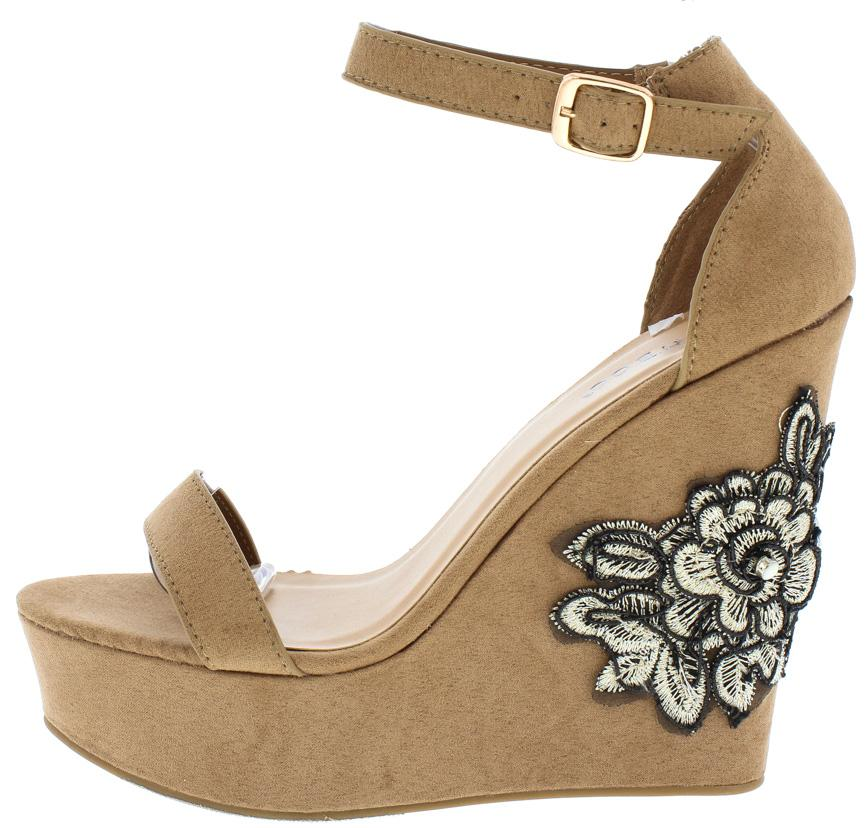 Charade49m camel black white flower patch platform wedges only 1088 charade49m camel black white flower patch platform wedge wholesale fashion shoes mightylinksfo