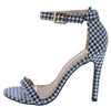 Charlie1 Navy White Open Toe Ankle Strap Stiletto Heel - Wholesale Fashion Shoes