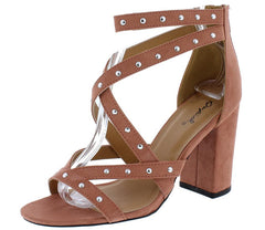 CHESTER120 DUSTY BLUSH SUEDE WOMEN'S HEEL - Wholesale Fashion Shoes
