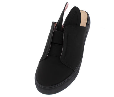 Violet102 Black  Bunny Ear Slide on Sneaker Flat - Wholesale Fashion Shoes