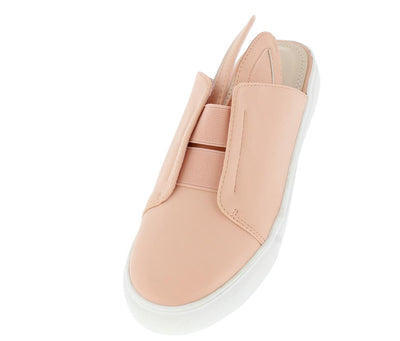 Violet102 Blush  Bunny Ear Slide on Sneaker Flat - Wholesale Fashion Shoes