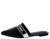 Juliet150 Black Homme + Femme Pointed Toe Mule Flat