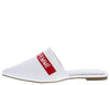 Juliet150 White Homme + Femme Pointed Toe Mule Flat - Wholesale Fashion Shoes