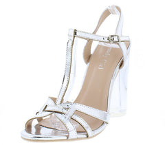 CHRYSTAL01 SILVER WOMEN'S HEEL - Wholesale Fashion Shoes