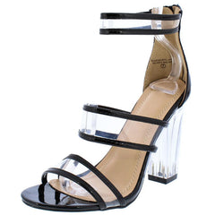 STELLA110 BLACK WOMEN'S HEEL - Wholesale Fashion Shoes