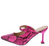 Cienna249 Pink Snake Women's Heel - Wholesale Fashion Shoes