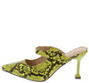 Cienna249 Yellow Snake Women's Heel - Wholesale Fashion Shoes