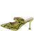 Cienna249 Yellow Snake Pointed Toe Mary Jane Mule Heel