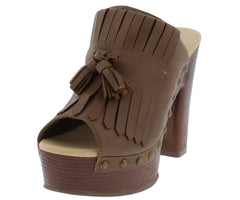 CLOWER4 TAUPE WOMEN'S HEEL - Wholesale Fashion Shoes