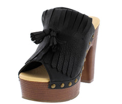 CLOWER4 BLACK WOMEN'S HEEL - Wholesale Fashion Shoes