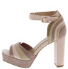 Compose13 Nude Multi Peep Toe Ankle Strap Platform Heel - Wholesale Fashion Shoes