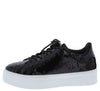 Mariana063 Black Sequin Lace Up Platform Sneaker Flat - Wholesale Fashion Shoes