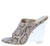 Cotton Candy Nude Snake Peep Toe Slide On Lucite Wedge