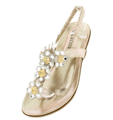 CRAB1716 GOLD WOMEN'S SANDAL - Wholesale Fashion Shoes