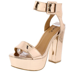 CRUSH01 ROSE GOLD WOMEN'S HEEL - Wholesale Fashion Shoes