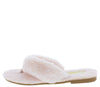 Cuddle4 Pink Faux Fur Flat Slide Thong Sandal - Wholesale Fashion Shoes
