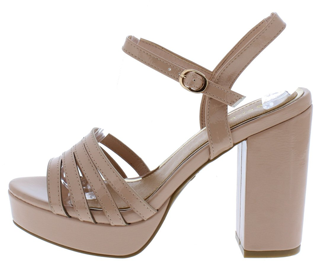 4e95b85cf097 Current12s Nude Multi Strap Open Toe Slingback Heel - Wholesale Fashion  Shoes