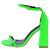 Curvy Green Open Toe Ankle Strap Tapered Block Heel