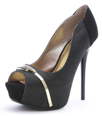 DAYDREAM67 BLACK WOMEN'S HEEL - Wholesale Fashion Shoes