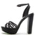 Dearly48x Black Pu Women's Heel