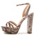 Dearly48x Blush Multi Snake Pu Women's Heel