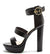 Dearly66x Black Lizard Women's Heel