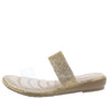 Dj05 Gold Clear Lucite Open Toe Sparkle Slide Sandal - Wholesale Fashion Shoes