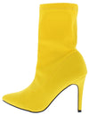 Auden Yellow Pointed Toe Stiletto Boot - Wholesale Fashion Shoes