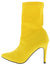 Auden Yellow Pointed Toe Stiletto Boot