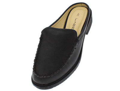 Dopey4 Black Pu Mule Loafer Flat - Wholesale Fashion Shoes