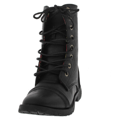 Dabin01km Black Kid's Combat Boot - Wholesale Fashion Shoes