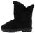 Janet285 Black Faux Fur Lined Pull On Lug Boot