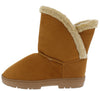 Janet285 Chestnut Faux Fur Lined Pull On Lug Boot - Wholesale Fashion Shoes