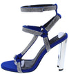 Leticia248 Blue Rhinestone Strappy Open Toe Metallic Heel - Wholesale Fashion Shoes