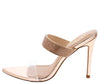 Dali Rose Gold Open Toe Rhinestone Strap Mule Stiletto Heel - Wholesale Fashion Shoes