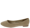 Dana12 Tan Faux Suede Flat - Wholesale Fashion Shoes