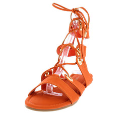 DARBY21 ORANGE WOMEN'S SANDAL - Wholesale Fashion Shoes