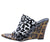 Daring Leopard Open Toe Lucite Mule Slide Wedge